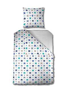 Aminata - Bettwäsche Sterne blau türkis weiß 135x200 Baumwolle Linon Mädchen Jugendliche Aminata Kids http://www.amazon.de/dp/B0188TQUG2/ref=cm_sw_r_pi_dp_2XZ5wb1SXNEEY