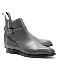 31914443686aa Handmade Gray Jodhpurs Ankle High Strap Buckle Boots Men - Boots Mode Homme,  Chaussure Montante