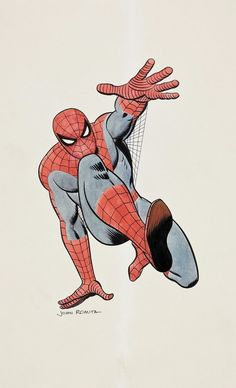 Here's a color Spider-Man piece that John Romita did in the late 1960s. #spiderman #Marvel #comics #comicbooks