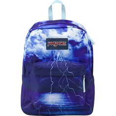 JanSport High Stakes Backpack ($40) ❤ liked on Polyvore featuring bags, backpacks, black, school & day hiking backpacks, black rucksack, strap backpack, padded bag, pocket bag and backpacks bags