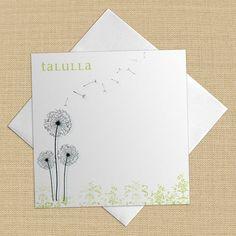 Mckenzie mod floral square set of 8 custom personalized flat dandy dandelion square set of 8 custom personalized flat note cards stationery colourmoves