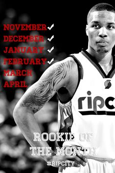 4 Down. 2 To Go. Dame rookie of the month for February!