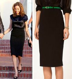 Angelina Jolie Black Tube Skirt