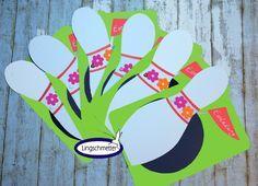 Einladungskarten   Einladung Kindergeburtstag KEGELN Mädchen   Ein  Designerstück Von Lingschmetter Bei DaWanda Einladung Kegeln!