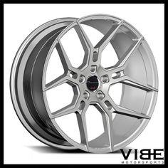 "20"" GIOVANNA HALEB SILVER CONCAVE WHEELS RIMS FITS CHEVROLET CAMARO LS LT SS #Giovanna #haleb #wheels #concave #chevrolet #camaro #vibemotorsports"