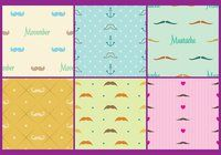 Movember Pattern Vectors