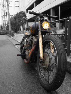 Rusty Shovelhead bobber