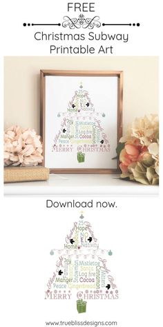 Find free printables for the Christmas season including printable art, gift tags and banners.