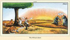 """The Far Side"" by Gary Larson. Far Side Cartoons, Far Side Comics, Funny Cartoons, Gary Larson Comics, Gary Larson Cartoons, Gary Larson Far Side, Funny Cartoon Pictures, The Far Side, Wtf Funny"