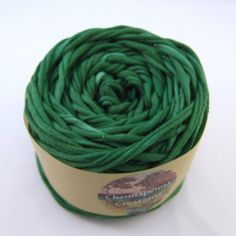 Hand+Dyed+T+Shirt+Yarn+45+yards+Emerald+by+Chennapenna+on+Etsy,+$6.25