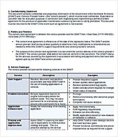 Accounting Service Level Agreement Template , Service Level ...