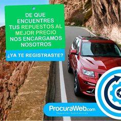 #ProcuraWeb se encarga de ubicar el repuesto de tu vehículo que tanto andabas buscando luego se haremos llegar las tres mejores ofertas para que tú elijas. Ya te registraste? Hazlo es fácil y rápido! #Vehículo #Automotriz #Online #Solicitud #Clientes #Proveedores #Calidad #Atención #AlMejorPrecio #Venezuela