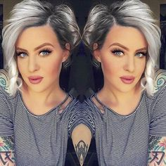 kurze Frisuren - Chic Short Hair Ideas for Round Faces - Love this Hair - hair styles for short hair Short Choppy Haircuts, Stylish Short Haircuts, Short Bob Hairstyles, Cool Hairstyles, Haircut Short, Pixie Haircuts, Short Asymetrical Haircuts, Round Face Short Haircuts, Hairstyle Ideas
