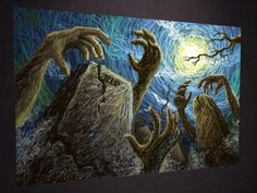 pictures of halloween paintings   MARUTI TEXTURES HALLOWEEN ART - BACKDROP - TEXTURE 10 - FULL PERM ...