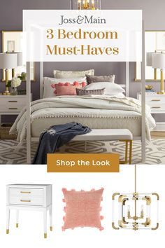 Stylish Bedroom Furniture & Decor from Joss & Main Home Decor Bedroom, Interior Design Living Room, Bedroom Ideas, Furniture Decor, Bedroom Furniture, Dyi, Huge Bedrooms, Stylish Bedroom, Small Apartment Decorating