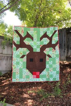 = free pattern = Reindeer quilt by Alicia Steele as seen at Moda Bakeshop