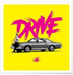 Drive - Yellow - Federico Mancosu - Affiche premium