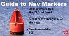 How do you know what all those markers mean? Keep this downloadable PDF next to the helm and you'll be able to quickly find anything! via @TheBoatGalley