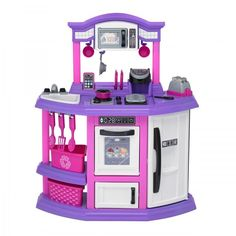 Pretend Kitchen Play Set for Kids  Plastic Cooking Food Toy Toddler Girl Toys  #AmericanPlasticToys