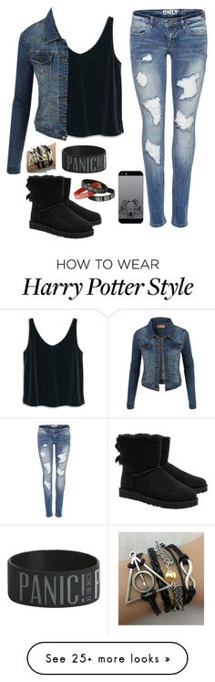 """Untitled #13"" by looka524 on Polyvore featuring MANGO, LE3NO and UGG Australia"