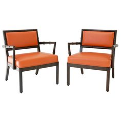 """Elegant Pair of Armchairs by William """"Billy"""" Haines. Kat go to this girl's board... she has an entire board of Midcentury Modern"""
