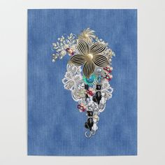 Costume jewelry Ivory Pearls and White Lace on Blue Denim Texture Poster by justkidding #Poster #graphicdesign #pear;ls #costumejewelry #bluedenim #sculpture Buy Costumes, Ivory Pearl, All Gifts, Present Gift, Diy Frame, Cool Diy, White Lace, Costume Jewelry, Blue Denim