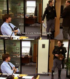 The one thing that has remained constant in the 9 seasons of The Office: Jim and Dwight's antics :)