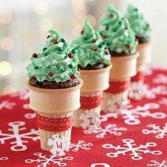 Christmas Brownie cornets