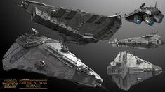Star Wars Spaceships, Heavy Cruiser, Star Wars Ships, Star Destroyer, Model Ships, Battleship, Corvette, Worlds Largest, Empire