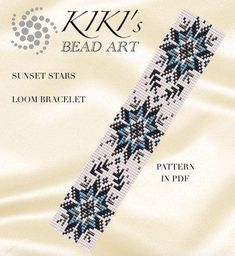 Bead loom pattern Sunset stars LOOM bracelet PDF pattern Informations About Bead loom pattern - Suns Loom Bracelet Patterns, Bead Loom Bracelets, Bead Loom Patterns, Jewelry Patterns, Beading Patterns, Beading Ideas, Mosaic Patterns, Beading Supplies, Knitting Patterns