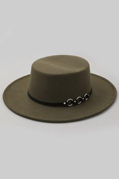 One size Silver plated rings Vegan leather black strap Felt Hat, Selling Online, Hand Sewing, Straw Hats, Fashion, Moda, Fedora Hat, Sewing By Hand, Fashion Styles