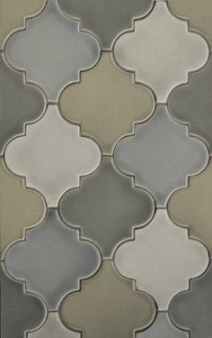 Moroccan inspired back splash tiles. Lovely tones. #Moroccan #Inspiration .