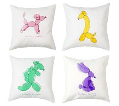 love these cute balloon drawings on these cushions #pillows #illustration #pillows
