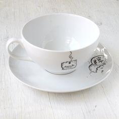 Alice au pays des merveilles « Drink Me » tasse à thé et soucoupe « Eat Me » ensemble ((l