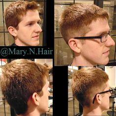 Men's haircut with a slight fade.  #yxe #saskatoonsalon #yxehair