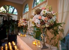 Brittany Edwards' wedding at The Mansion featured flowers by Debby Jewesson of Branching Out.