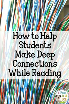 Making connections is a key reading strategy that can often be misused or overlooked. When used effectively it can be a great resource to help students understand their reading. Reading Comprehension Strategies, Reading Resources, Reading Skills, Teaching Reading, Teaching Tools, Teaching Ideas, Reading Groups, Guided Reading, Teacher Resources