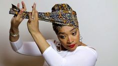 ✿ Afro Scarf & HeadWraps & Make up & Turban & Hat Easy Head Wrap Tutorial African Hair Wrap, African Head Wraps, Hair Wrap Scarf, Hair Scarf Styles, Turban Tutorial, Hijab Tutorial, Head Wrap Tutorial, Twa Styles, Scarf Hairstyles