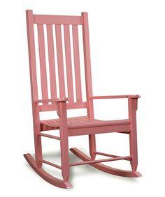 Another great find on #zulily! Pink Wood Rocking Chair #zulilyfinds
