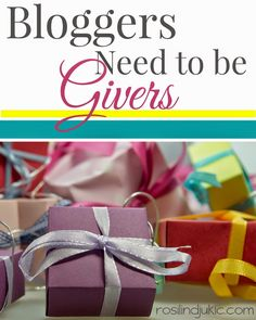 This is why bloggers need to be givers!