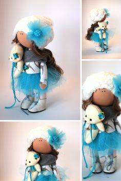 Tilda doll Fabric doll Summer doll handmade by AnnKirillartPlace
