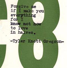 Tyler Knott Gregson typewriter series #659
