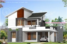 Ideas Kerala Style House Plans In 11 Cents Anoop Chandran and Manisha, an artist couple, shares their acquaintance of designing their own abode in a 5 cents artifice abreast the Valapad bank at Modern Tropical House, Tropical House Design, Kerala House Design, Tropical Houses, Beautiful House Plans, Simple House Plans, Dream House Plans, House Front Design, Modern House Design