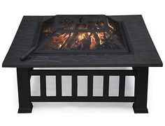Fire-Pit-BBQ-Table-Grill-Garden-Patio-Camping-Heater-Fireplace-Brazier-Outdoor