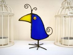 blue bird, a stained glass bird to fit your mood! by HaloneyRakia on Etsy https://www.etsy.com/listing/215050565/blue-bird-a-stained-glass-bird-to-fit