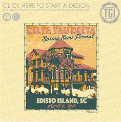 Delta Tau Delta | ΔTΔ | Spring Semi Formal | Semi Formal | TGI Greek | Greek Apparel | Custom Apparel | Fraternity Tee Shirts | Fraternity T-shirts | Custom T-Shirts