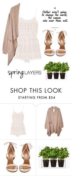 """#cutecardigan #springlayers"" by lovefashionxxxxxx ❤ liked on Polyvore featuring Alice + Olivia, Aquazzura, Boskke, cutecardigan and springlayers"