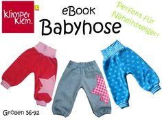 Nähanleitungen Kind - eBook Babyhose Schnitt und Nähanleitung - ein Designerstück von Klimperklein bei DaWanda