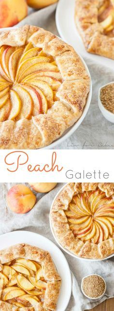 Pretty in Peach galette. Quick, easy, and perfect for summer. | livforcake.com