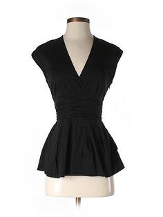 Bcbgmaxazria Short Sleeve Blouse $31.49 80% off